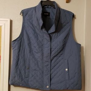 Nine West quilted blue vest